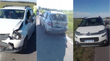Accidente en cadena en la Ruta 205